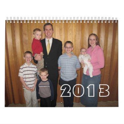 Calendario 2013 de la familia de Breeden