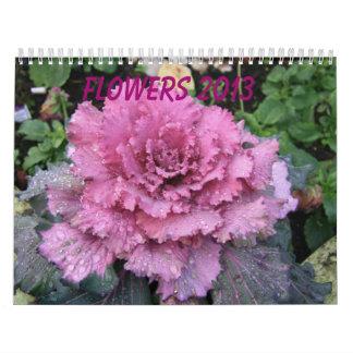 Calendario 2013 de la flor