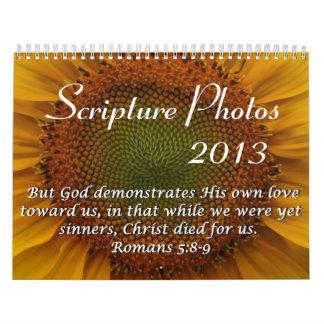 Calendario 2013 de la foto de la escritura
