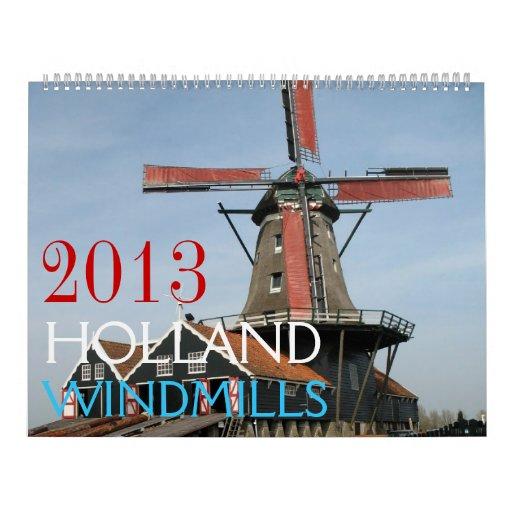 Calendario 2013 de la foto de los molinoes de vien