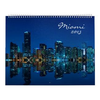 Calendario 2013 de la foto del horizonte de Miami