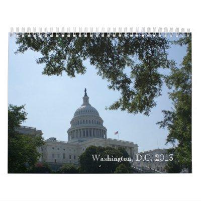 Calendario 2013 de la fotografía en color del Wash