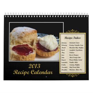 Calendario 2013 de la receta