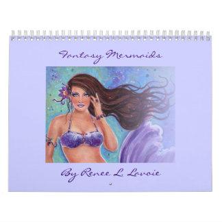Calendario 2013 de la sirena de la fantasía por Re