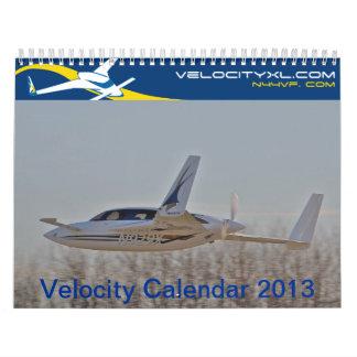 Calendario 2013 de la velocidad