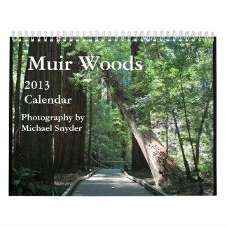 Calendario 2013 de maderas de Muir