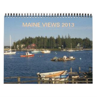 Calendario 2013 de Maine