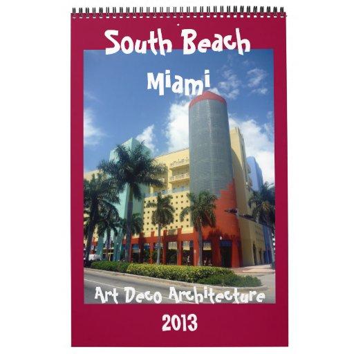 calendario 2013 de Miami del art déco