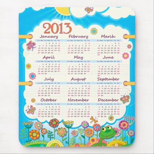 Calendario 2013 de Mousepad 3 Alfombrillas De Raton