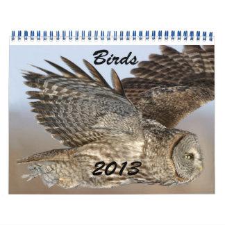 Calendario 2013 de pájaros