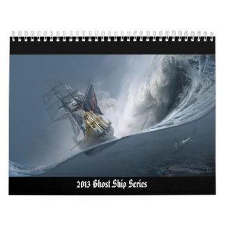 Calendario 2013 de pared de la serie de la nave