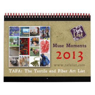Calendario 2013 de TAFA: Momentos de la musa