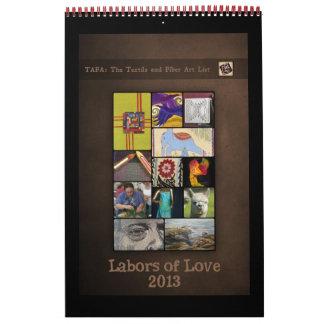 Calendario 2013 de TAFA: Trabajos de amor