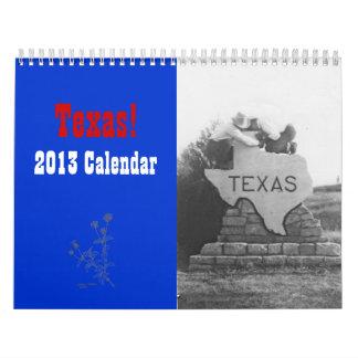 Calendario 2013 de Tejas