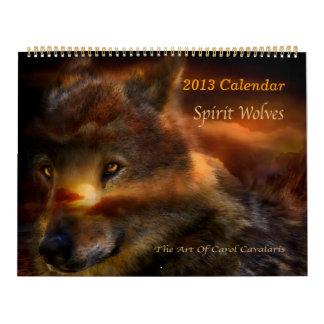 Calendario 2013 del arte de los lobos del alcohol