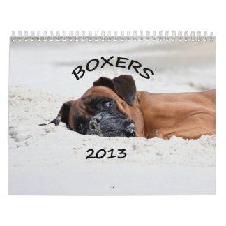 Calendario 2013 del boxeador