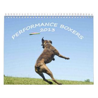 Calendario 2013 del boxeador del funcionamiento