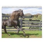 Calendario 2013 del caballo de la montaña
