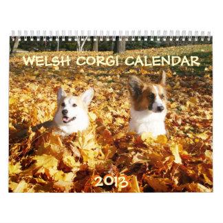 Calendario 2013 del Corgi Galés
