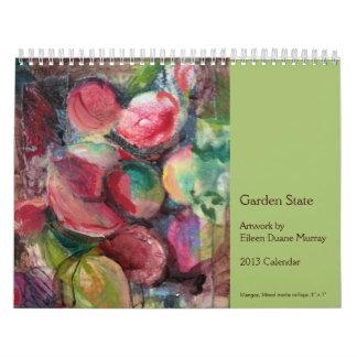 Calendario 2013 del estado jardín