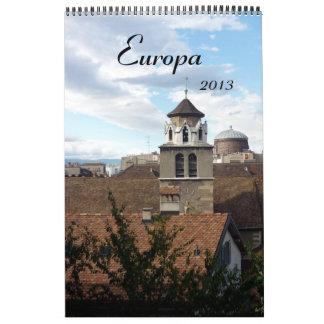 calendario 2013 del europa