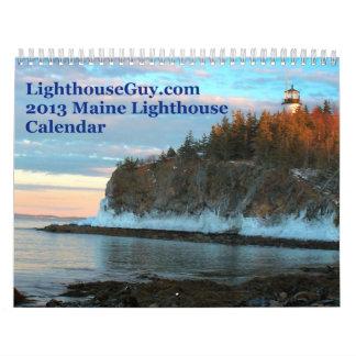 calendario 2013 del faro de LighthouseGuy.com