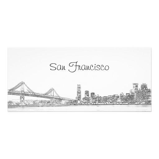 Calendario 2013 del horizonte de San Francisco Tarjetas Publicitarias