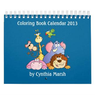 Calendario 2013 del libro de colorear