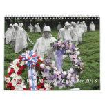 Calendario 2013 del monumento de Guerra de Corea