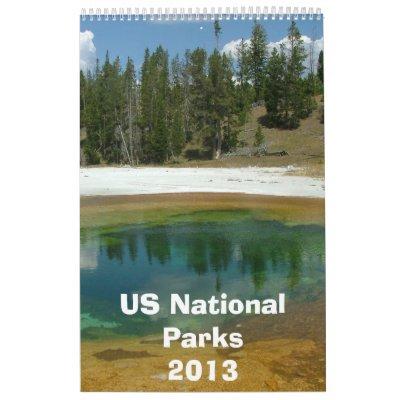 Calendario 2013 del parque nacional de los E.E.U.U