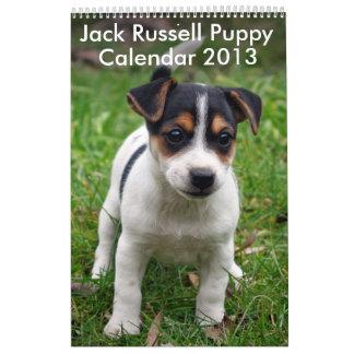 Calendario 2013 del perrito de Jack Russell Terrie
