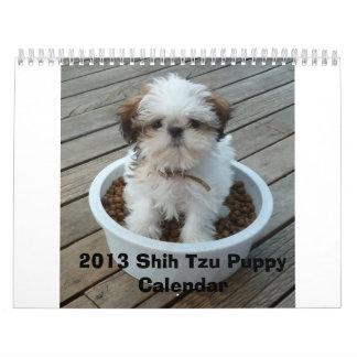 Calendario 2013 del perrito de Shih Tzu