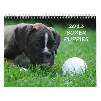Calendario 2013 del perrito del boxeador