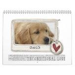 calendario 2013 del perro de la foto