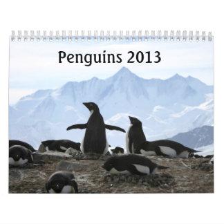 Calendario 2013 del pingüino