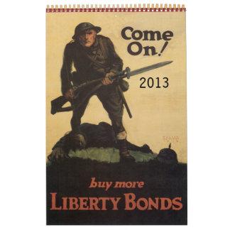 Calendario 2013 del poster de la guerra mundial de
