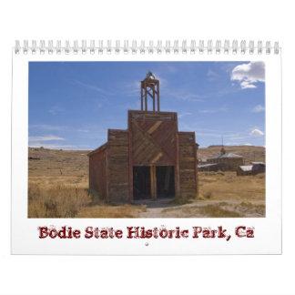 Calendario 2013 del pueblo fantasma de Bodie