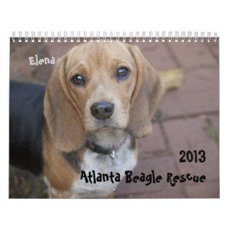 Calendario 2013 del rescate del beagle de Atlanta