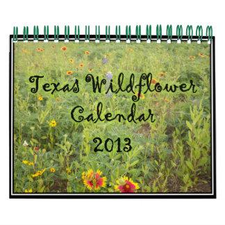 Calendario 2013 del Wildflower de Tejas