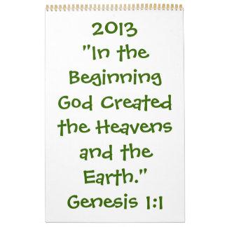 Calendario 2013 espiritual/inspirado