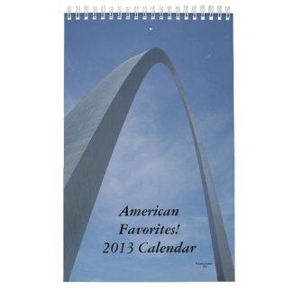 Calendario 2013. ¡Favoritos americanos!