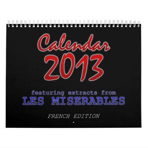 Calendario 2013, francés