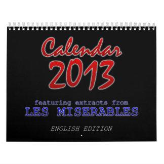 Calendario 2013, inglés