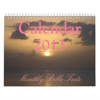 Calendario 2013 - Textos mensuales de la biblia