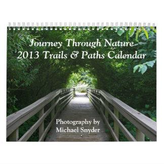 Calendario 2013, trayectorias y rastros en
