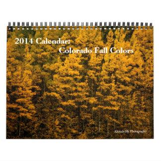 Calendario 2014 Colores de la caída de Colorado