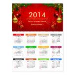 Calendario 2014 con el texto del personalizado de  postales