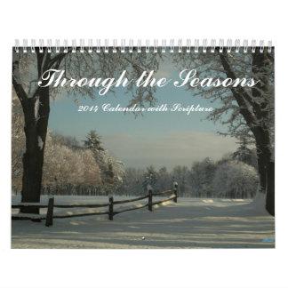 Calendario 2014 con escrituras