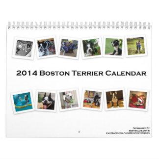 Calendario 2014 de Boston Terrier