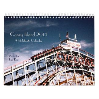 Calendario 2014 de Coney Island 15-Month